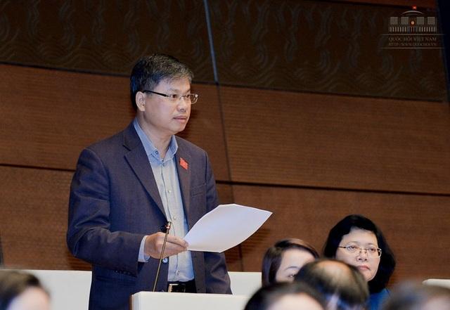Đại biểu Quốc hội Nguyễn Sỹ Cương phát biểu tại phiên thảo luận (Ảnh: Quochoi.vn)