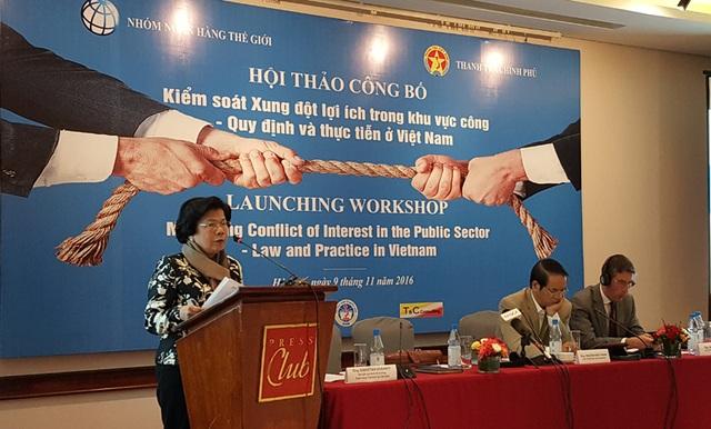 Bà Vũ Kim Hạnh - Chủ tịch Hội doanh nghiệp Hàng Việt Nam chất lượng cao (Ảnh: T.K)
