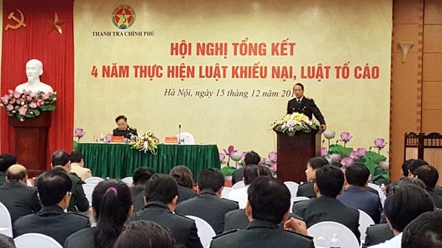 Hội nghị do Thanh tra Chính phủ tổ chức tại Hà Nội ngày 15/12 (Ảnh: TTCP)