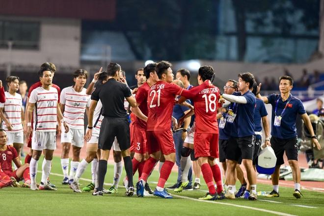 Những cảm xúc đặc biệt của HLV Park Hang Seo trong trận thắng U22 Campuchia - 1