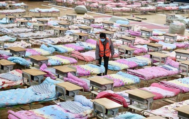 Trung Quốc biến nhà thi đấu, trung tâm hội nghị thành bệnh viện dã chiến - 16