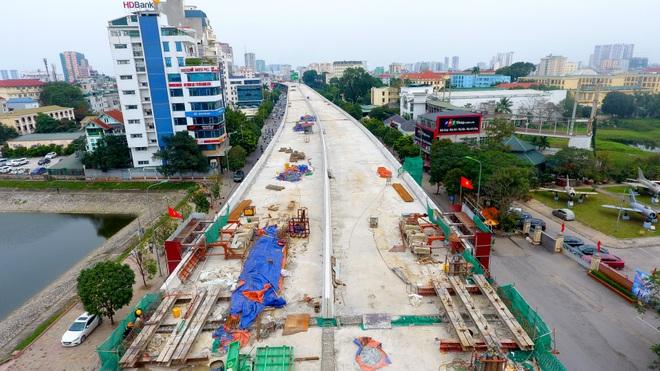 Đại công trường trên cao 9.400 tỷ xuyên đường cong mềm mại ở Hà Nội - 5