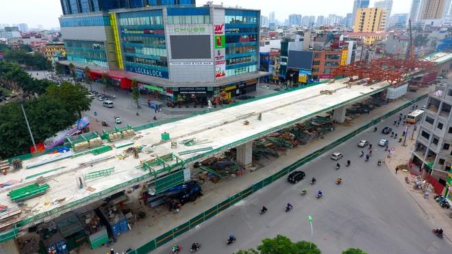 Đại công trường trên cao 9.400 tỷ xuyên đường cong mềm mại ở Hà Nội - 20