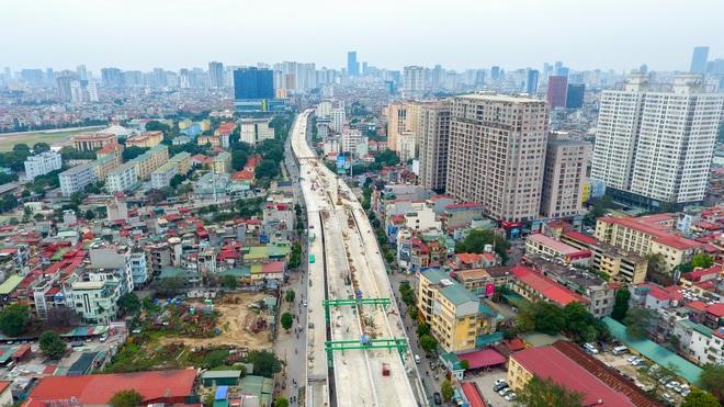 Đại công trường trên cao 9.400 tỷ xuyên đường cong mềm mại ở Hà Nội - 9