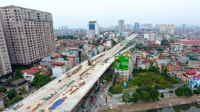 Đại công trường trên cao 9.400 tỷ xuyên đường cong mềm mại ở Hà Nội - 8