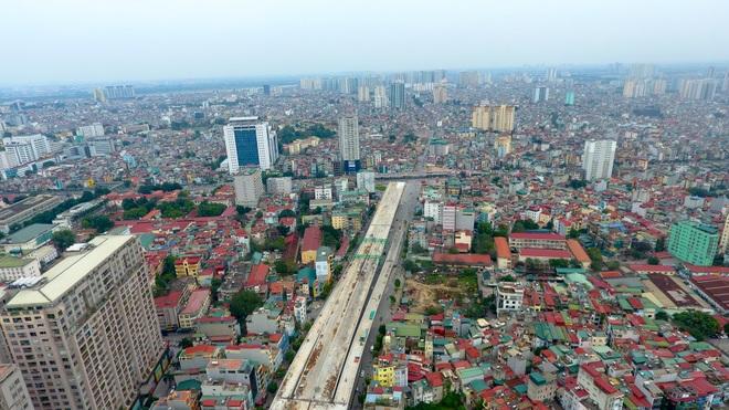 Đại công trường trên cao 9.400 tỷ xuyên đường cong mềm mại ở Hà Nội - 7
