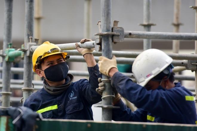 Đại công trường trên cao 9.400 tỷ xuyên đường cong mềm mại ở Hà Nội - 19