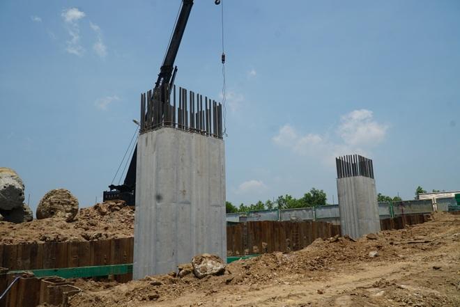 Nhìn từ trên cao dự án đường nối vành đai 3 với cao tốc Hà Nội - Hải Phòng - 13