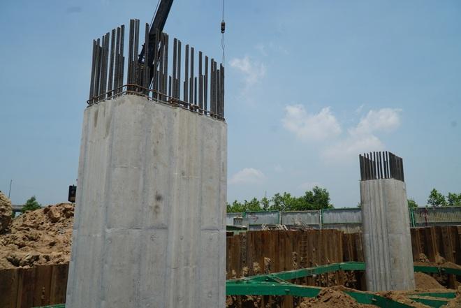 Nhìn từ trên cao dự án đường nối vành đai 3 với cao tốc Hà Nội - Hải Phòng - 14