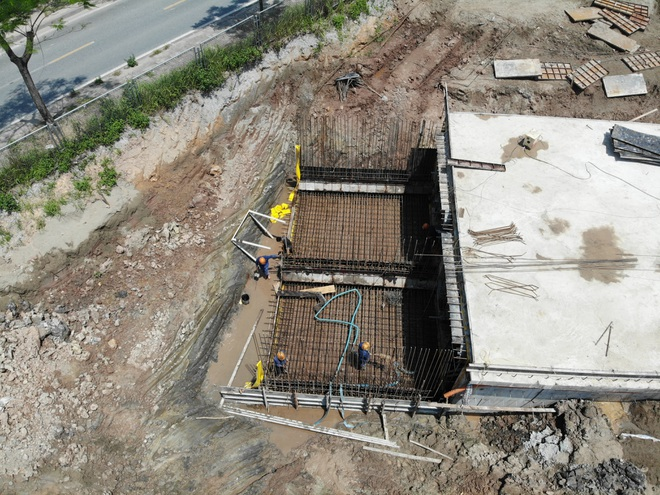 Nhìn từ trên cao dự án đường nối vành đai 3 với cao tốc Hà Nội - Hải Phòng - 6