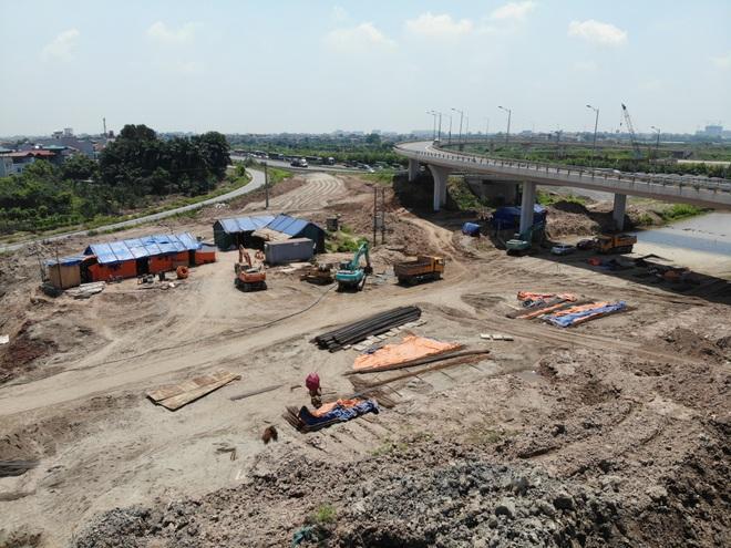 Nhìn từ trên cao dự án đường nối vành đai 3 với cao tốc Hà Nội - Hải Phòng - 5