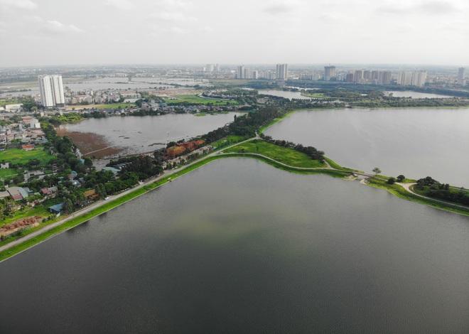 Nhìn từ trên cao hồ điều hoà rộng lớn phía đông thành phố Hà Nội - 8
