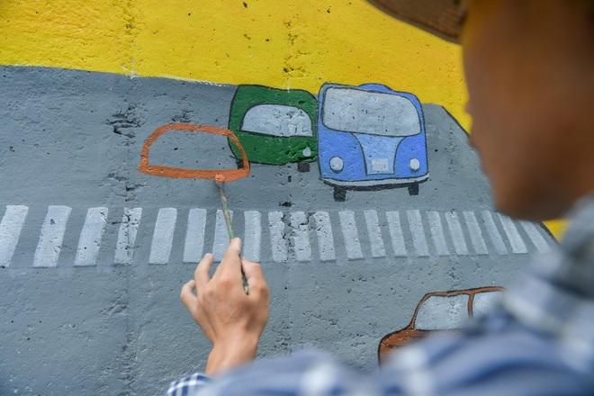 Con đường bích họa dài hơn 2 km ở ngoại thành Hà Nội - 11