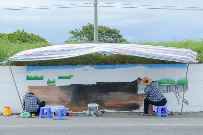 Con đường bích họa dài hơn 2 km ở ngoại thành Hà Nội - 7