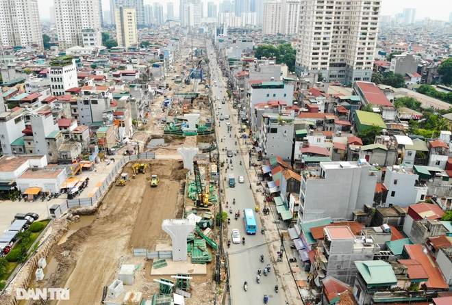 Hà Nội: Toàn cảnh công trường đường vành đai 2 đoạn Minh Khai – Đại La - 13