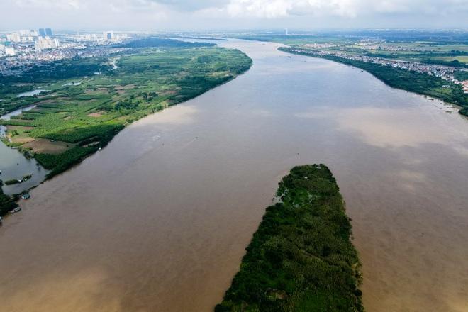 Cảnh hồ thủy điện xả lũ lớn, nước cuộn sóng nhấn chìm bãi giữa sông Hồng - 13
