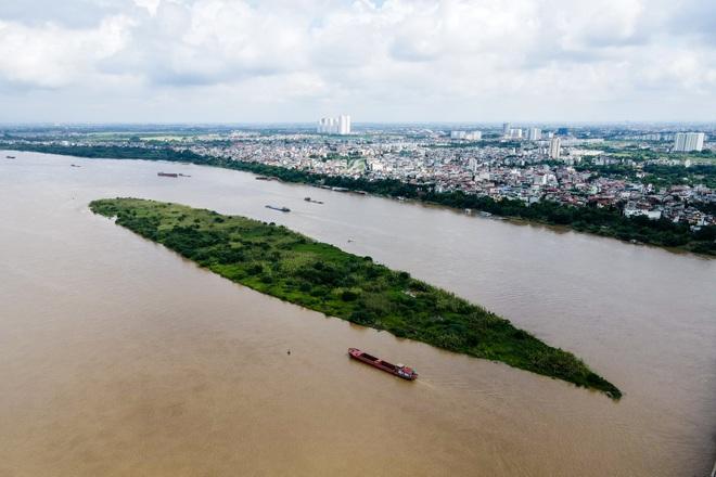 Cảnh hồ thủy điện xả lũ lớn, nước cuộn sóng nhấn chìm bãi giữa sông Hồng - 11