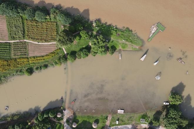 Cảnh hồ thủy điện xả lũ lớn, nước cuộn sóng nhấn chìm bãi giữa sông Hồng - 14