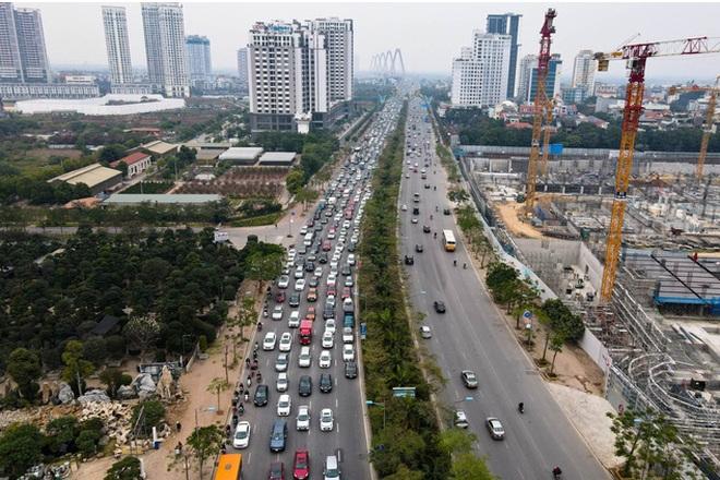 Hàng nghìn ôtô chôn chân tại cầu Nhật Tân ngày cuối kỳ nghỉ lễ - 2