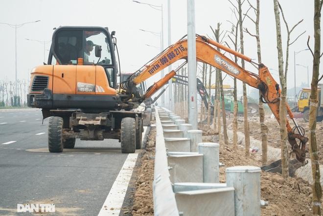 Toàn cảnh nút giao cao tốc hơn 400 tỷ ở Hà Nội trước ngày thông xe - 8