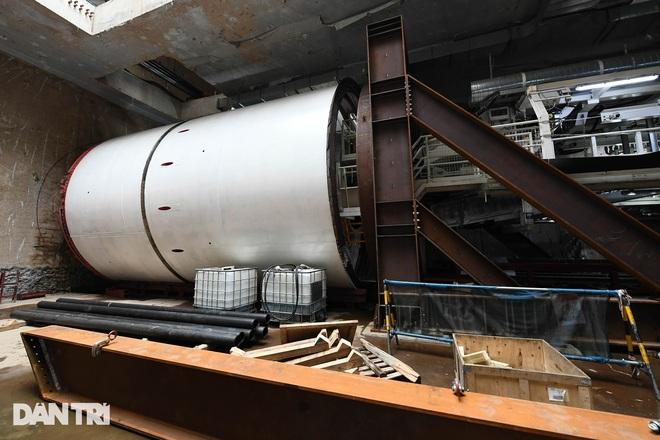 Quái vật 850 tấn đào hầm đường sắt Nhổn - ga Hà Nội lần đầu chạy thử - 3