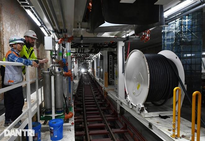 Quái vật 850 tấn đào hầm đường sắt Nhổn - ga Hà Nội lần đầu chạy thử - 9