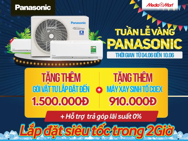 Tuần lễ vàng Panasonic: Mua điều hòa tặng quà đến 2 triệu đồng tại MediaMart - 1