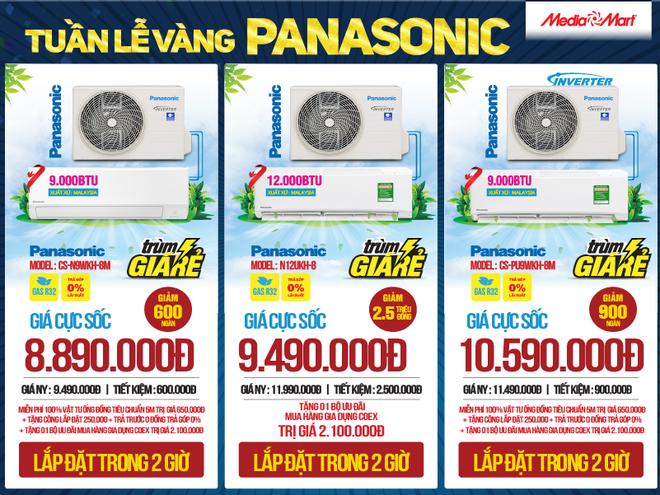 Tuần lễ vàng Panasonic: Mua điều hòa tặng quà đến 2 triệu đồng tại MediaMart - 2