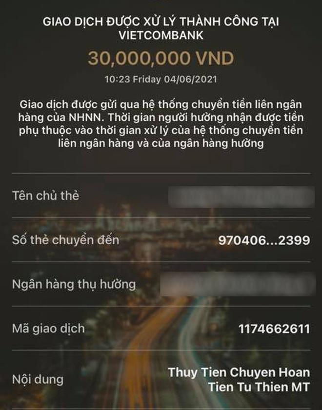 Thủy Tiên xin lỗi và gửi trả 30 triệu từ thiện cho khán giả chuyển nhầm