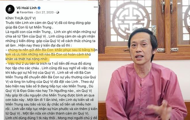 Hoài Linh chính thức xin lỗi, lý giải vì sao chậm trễ chuyển tiền từ thiện - 2
