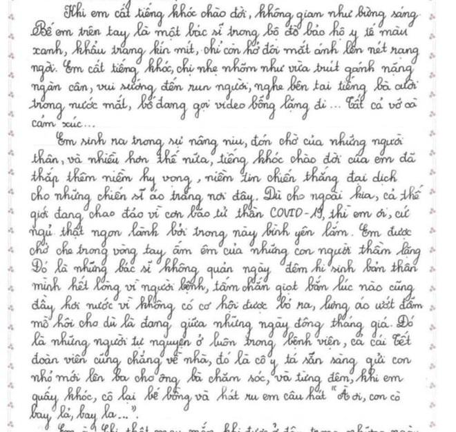 Thư gửi em bé có mẹ nhiễm Covid-19 vào đề thi Văn lớp 10 gây xúc động - 1