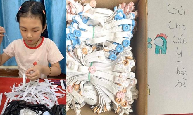 Cô bé 9 tuổi làm 500 chiếc tai giả tặng y bác sĩ tuyến đầu chống dịch - 1