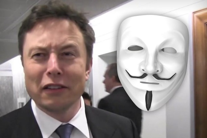 Elon Musk rơi vào tầm ngắm của nhóm hacker Anonymous - 1