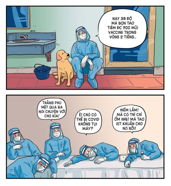 Họa sĩ 8X kể chuyện chống dịch Covid-19 bằng tranh - 4