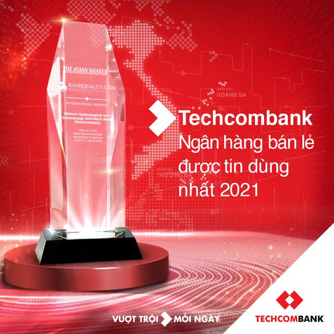 Techcombank là ngân hàng bán lẻ được tin dùng nhất tại Việt Nam - 2