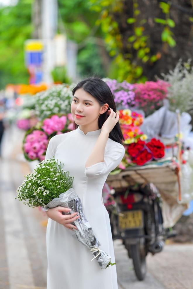 Vẻ đẹp giản dị mà say lòng người của nữ sinh Hà thành  - 11