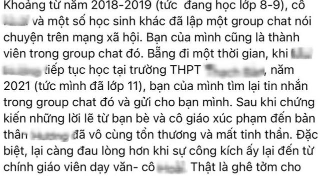 Hà Nội: Xác minh giáo viên bị tố dùng từ tục tĩu nói học sinh béo, xấu - 2