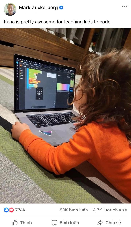 Khoe con gái 5 tuổi học lập trình của ông chủ Facebook gây tranh cãi - 1