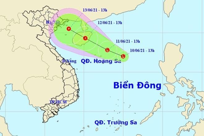 Xuất hiện vùng áp thấp ở phía Đông Quần đảo Hoàng Sa - 1