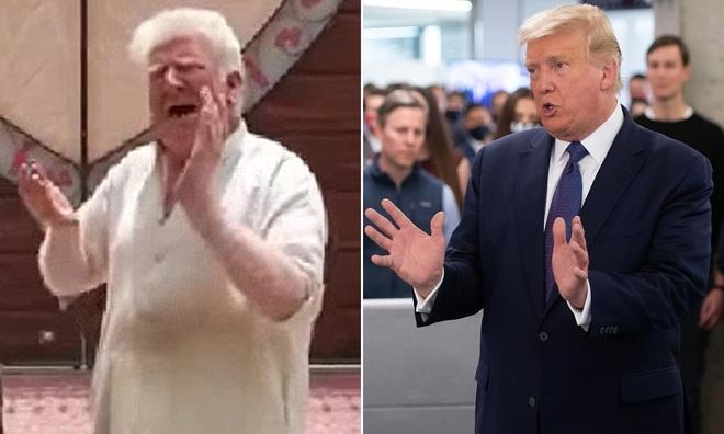 Người bán kem được ví như bản sao của ông Trump - 1