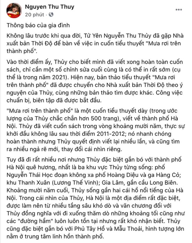 Gia đình tiết lộ di nguyện còn dang dở của Hoa hậu Thu Thủy