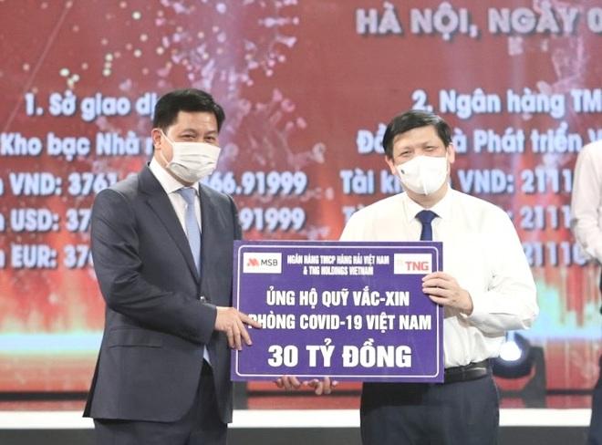 TNG Holdings Vietnam và MSB ủng hộ gần 60 tỷ đồng phòng chống dịch Covid-19 - 1