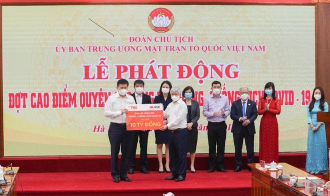 TNG Holdings Vietnam và MSB ủng hộ gần 60 tỷ đồng phòng chống dịch Covid-19 - 2