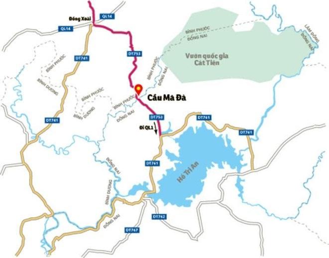 Xây cầu Mã Đà: Từ Bình Phước về sân bay Long Thành chỉ còn 60 phút - 2