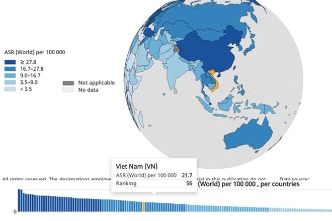 Việt Nam có tỷ lệ người mắc ung thư phổi đứng thứ 56 thế giới - 1