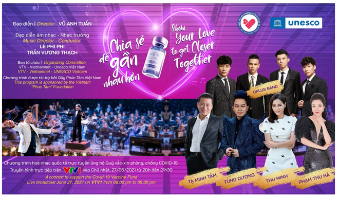 Tùng Dương, Thu Minh, Phạm Thu Hà hát hòa nhạc Chia sẻ để gần nhau hơn - 1
