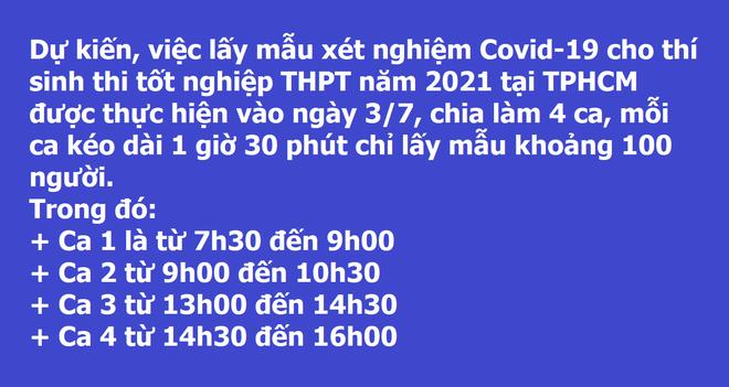 Thi tốt nghiệp ở TPHCM: Xét nghiệm Covid-19 cho 110.000 thí sinh, giáo viên   - 2