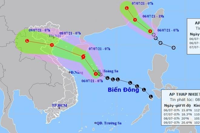 Biển Đông xuất hiện 2 cơn áp thấp nhiệt đới - 1