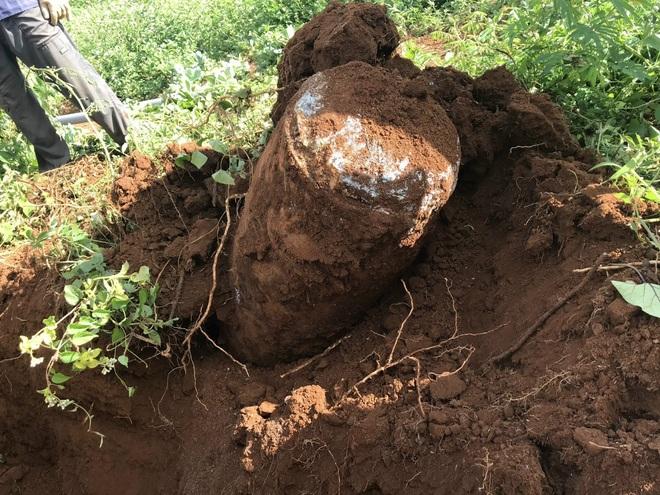 Đi cuốc đất, bất ngờ phát hiện bom khủng - 2