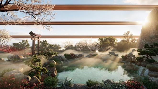 Cận cảnh tổ hợp onsen 1.000 tỷ đồng trong Ecopark, phát triển bởi 3 ông lớn Nhật Bản - 3